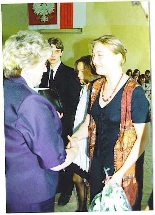 Rozdanie świadectw maturalnych 1996 r.