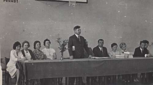 Rozdanie świadestw maturalnych 1967 r.