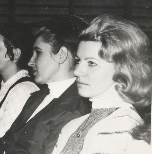 druga połowa lat 70-tych, prof  Łapińska i Żochowska