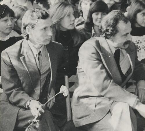 Prof A. Okuniewski i J. Falkowski
