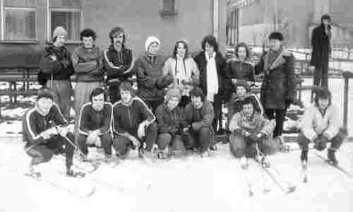 Sportowy obóz zimowy - 1976